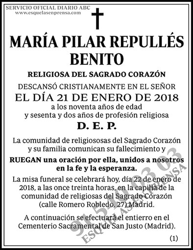 María Pilar Repullés Benito